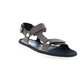Camper Oruga Sandal  Mens Gray Leather Strap Sport Sandals Shoes