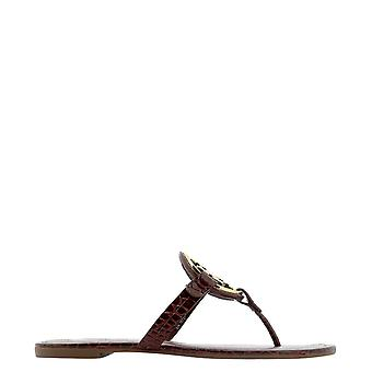 Tory Burch 76727607 Women's Burgundy Leather Flip Flops