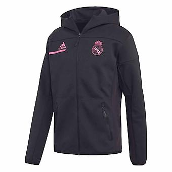 2020-2021 Real Madrid Himnusz Jacket (Fekete)