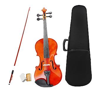 Natural Violin Basswood Steel String Arbor Bow With Case Rosin Bridge