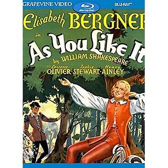 As You Like It (1936) [Blu-ray] USA import