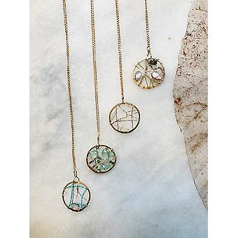 Dream Catcher med Herkimer Diamond & Turkis