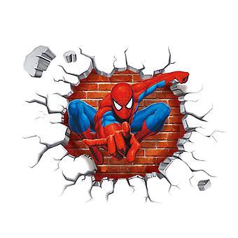 3d Effect Hero Spiderman Wall Stickers Room, Nursery, Home Decor, Cartoon