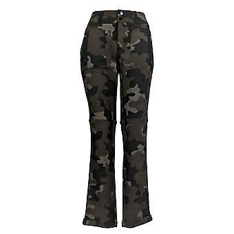 G.I.L.I. consiguió que les encanta Mujeres's Pantalones Camón Impreso Verde A382116