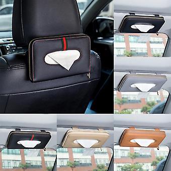 Serviette sets Car Sun Visor Seat Back Tissue Box Holder Auto Interior Storage