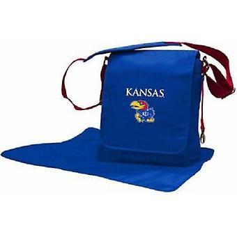 Kansas Jayhawks NCAA LilFan Diaper Messenger Bag