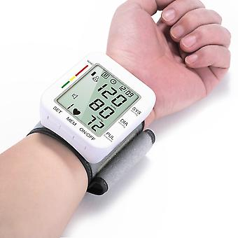 Digital Wrist Blood Pressure Monitor Pulse Heart Beat Rate Meter Device Mini Sphygmomanometer
