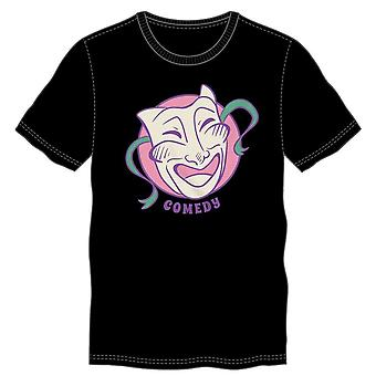 Comedy drama mask graphic t shirt