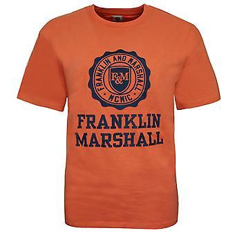 Franklin and Marshall Logo Top Short Sleeve Boys T-Shirt Rust FMS0060 039