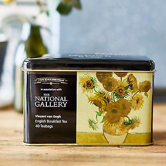 The national gallery van gogh sunflowers tea tin with 40 english breakfast teabags