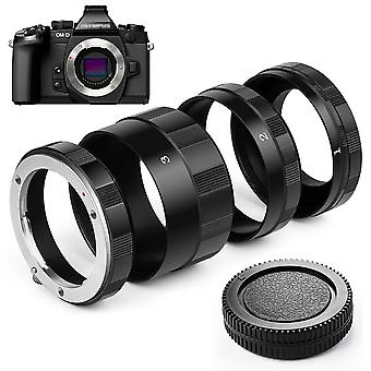 Fotover macro extension tube ring for olympus panasonic m4/3 micro 4/3 mount cameras with body rear