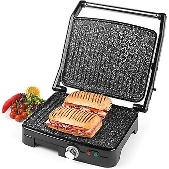 Salter EK2003MG Megastone Non-Stick XL Fold-Out Health Grill and Panini Maker, 1800 W, Black, 33cm