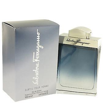 Subtil Salvatore Ferragamo Eau De Toilette Spray 3,4 oz/100 ml (miehet)