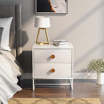 Nightstand Bedside Cabinet With 2 Drawers