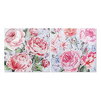 Painting Dekodonia Flowers Shabby Chic Canvas (2 pcs)