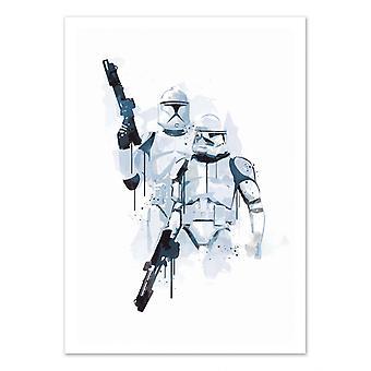 Art-Poster - Troopers Aquarel - 2Toast Design