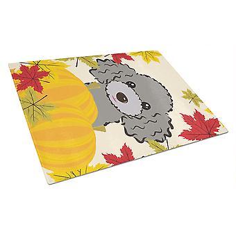 Caroline's Treasures Bb2065Lcb Silver Gray Poodle Thanksgiving Glass Cutting Board, Grande, Multicolore