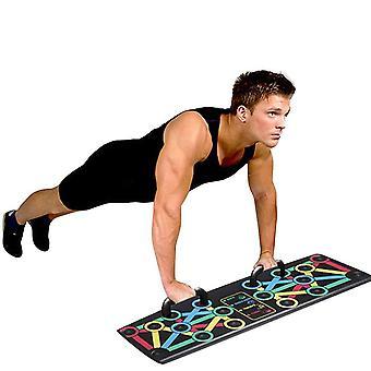 دفع Ups يقف رف المجلس 14 في 1 نظام الرجال النساء كمال الاجسام اللياقة البدنية تجريب العضلة ذات الرأسين تدريب العضلات ممارسة في دفع