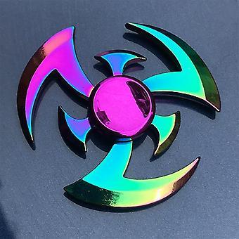 Sateenkaaren metallinen käsipyörittäjä (q15)