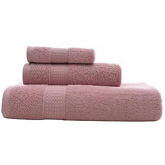 3pc serviette de bain ensemble coton à base longue