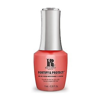 Red Carpet Manicure Fortify & Protect Gel Polish - Flashing Lights & Neon Signs