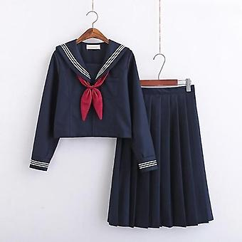 Jk Uniform Short/long Sleeve School Uniforms For Sailor Pleated Skirt Jk Sets