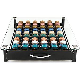 Gerui Capsule Storage Drawer Tray for 60 Nespresso Original Pods | Pod Holder Box, Organiser  amp;