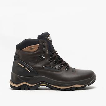 Grisport Quatro Mens Leather Trekking Boots Brown