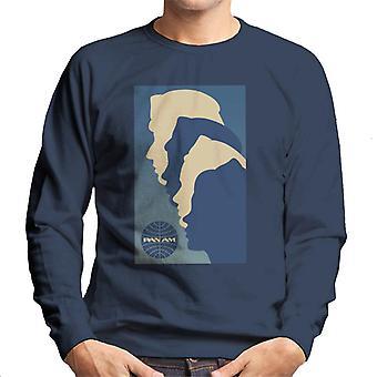 Pan Am Crew Silhouette Men's Sweatshirt