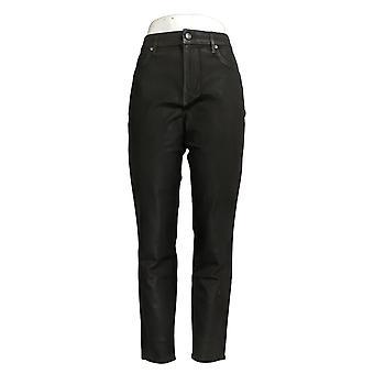Martha Stewart Women's Jeans Ankle Length Black A345124