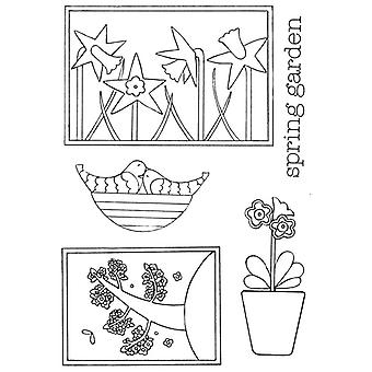 Personal Impressions Beth Hughes Spring Garden Clear Stamp Set
