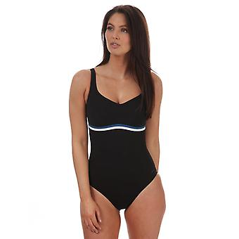 Costume da bagno Speedo Sculpture ContourLuxe da donna in nero
