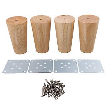 4x cono muebles de madera pies carga 100kg para armario 100x58x38mm