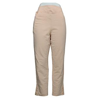 Denim & Co. Women's Pants Active French Terry V-Yoke Pull-On Pink A391932