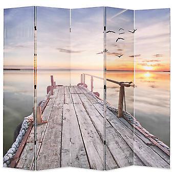 vidaXL غرفة مقسم قابل للطي 200 × 170 سم بحيرة مع جسر