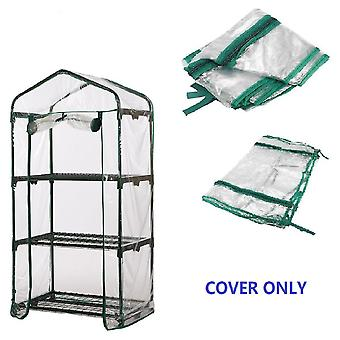 69x49x126cm Apex Dak 3-Tiers Tuinkas Cover Hot Plant House Shelf Shed Clear PVC Cover