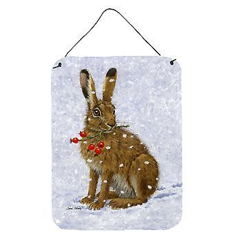 Caroline'S Treasures Rabbit Hare & Rosehips Wall Or Door Hanging Prints Asa2147Ds1216, 16Hx12W, Multicolor