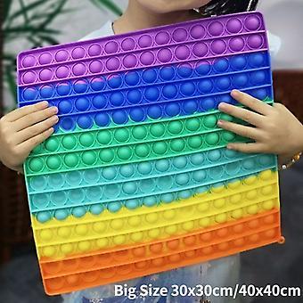 30x30/40x40cm BIG SIZE Fidget Toys Pops It Square Antistress Toy Bubble Figet Sensory Voor Volwassen Kinderen Cadeau