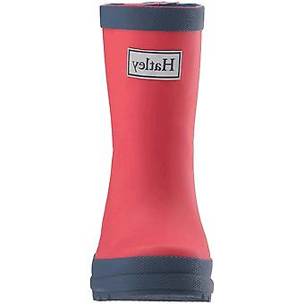 Hatley Kids' Toddler Classic Rain Boots, Red & Navy, 5 US Child