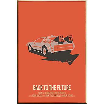 JUNIQE Print - Powrót do przyszłości 2 - Plakat filmowy w kolorze pomarańczowym i czarnym