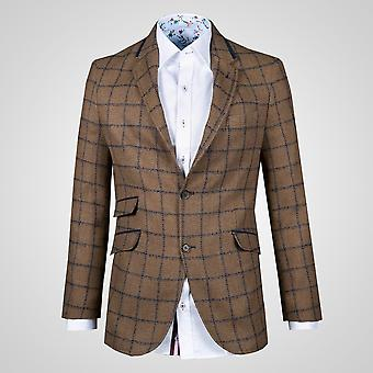 CLAUDIO LUGLI Check Tweed Jacket