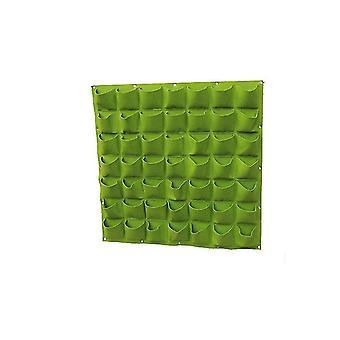 49 شبكات شنقا حقيبة متزايدة في الهواء الطلق في الهواء الطلق لحديقة الجدار زهرة الديكور جيوب الجدار تنمو الأواني عدة النبات dt4995