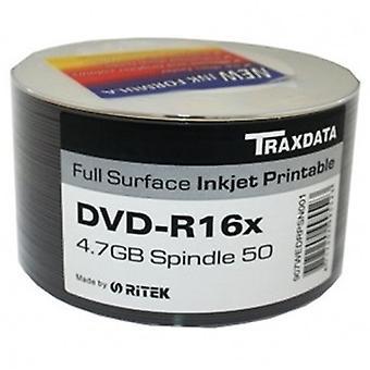 Ritek Traxdata DVD-R 16X 50Pk Boxované tlač