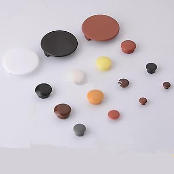 uusi 12mm valkoinen laitteisto huonekalu reikä kattaa suojaruuvin sm36046