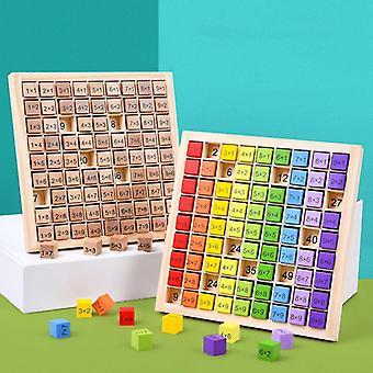 Montessori Educational Wooden Toys for Kids Children Baby Toys 99 Multiplication Table Math