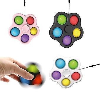 2 stk Sæt Sensorisk Fidget Legetøj Stress Relief Med Fidget Håndlegetøj Fingerspids Spinner Bubble Pop It