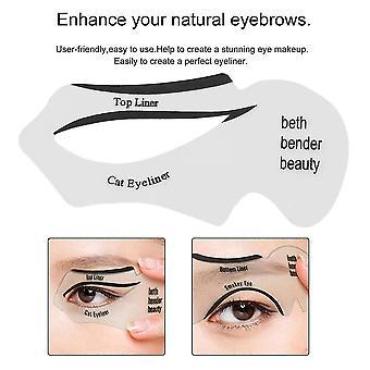 Eyes Liner Drawing Cards Tools Makeup Cosmetics Kit Women Eyeliner Applicator