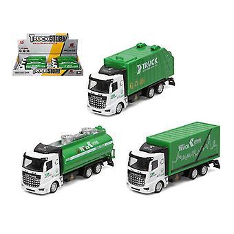 Garbage Truck Green