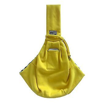 Pet Cotton Shoulder Bag, Pet Outing Messenger Bag, With Adjustable Padded Shoulder Strap(Yellow)