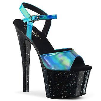 Pleaser Damen's Schuhe SKY-309HG Türkis Hologramm/Blk